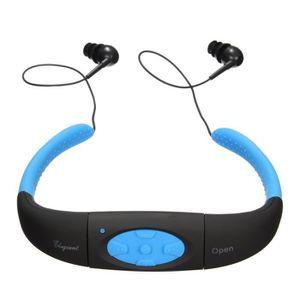LECTEUR MP3 Alpexe® Casque Ecouteur Etanche Sans fil USB MP3 p