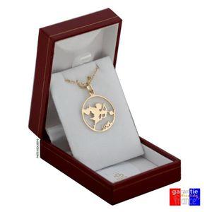 PARURE Pendentif cupidon en plaqué or pour femme avec sa
