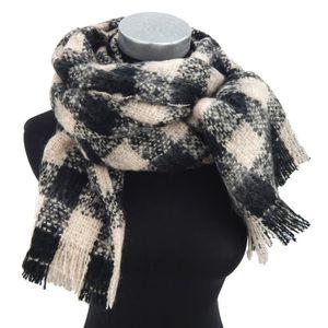 dames larges doux écharpe écharpe hiver noir à carreaux beige Ella Jonte  pour l automne et l hiver 6958fae9f1d