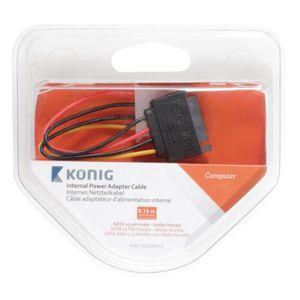 CÂBLE AUDIO VIDÉO König Câble d'alimentation interne SATA mâle à 15