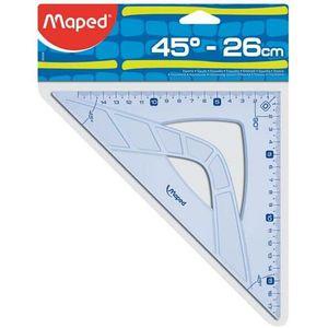 EQUERRE - COMPAS Équerre 45° - MAPED - Hypoténuse 26 cm