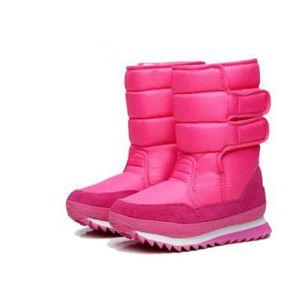 BotteFemme Hiver Mode Ultra ConfortableÀ Neige Étanches Pour Femme Coton Plus ÉpaisZX-x061rose-40 HGvp1Pkv