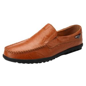 MOCASSIN 6495@Cuir Hommes Lazy Chaussures souples Mocassins