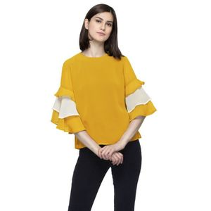 6f0131234c POLO Women's Solid Ruffled Top XR3A4 Taille-38