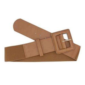 df25267f29bb CEINTURE ET BOUCLE large ceinture élastique pour femme avec grande bo