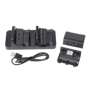 DOCK DE CHARGE MANETTE USB Dual Charging Dock station Chargeur + 2 Batter