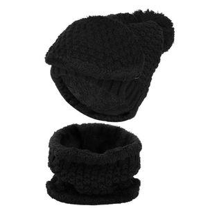 87ceebaf898 CASQUETTE - SNOOD Vbiger Ensemble d écharpe chaude de femme chapeau