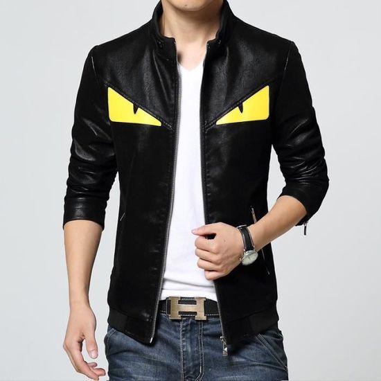 Manches Veste Zipper Montant Longues Homme Slim Loisirs Col Nouveau Style Colorblock 5rHxrgwqA