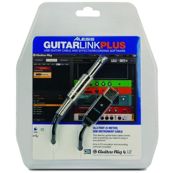 ALESIS RAL GUITARLINK-PLUS Câble USB jack 6,35 mm