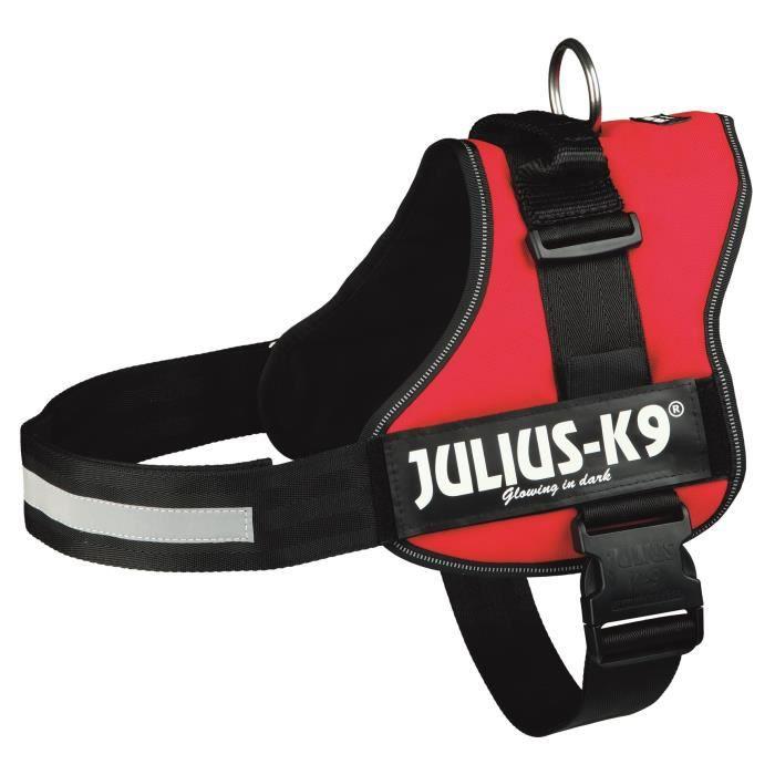 Harnais Power Julius-K9 - 3 - XL : 82-118 cm-50 mm - Rouge - Pour chien
