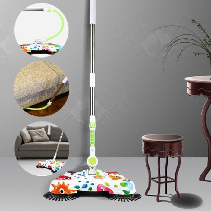 Nouvelle Arrivée 360 Rotary Usage à Domicile Magique Télescopique Plancher Balayeuse De Poussière @qw2755