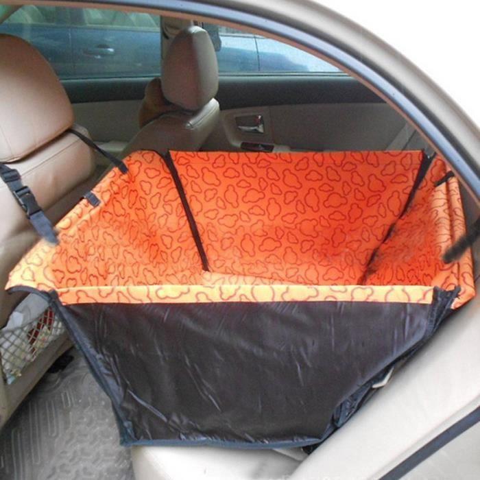 Aukur 53 * 60 35cm Housse De Siège Voiture, Pour Chien Imperméable Lavable Siège,voyage L'utiliser(orange)