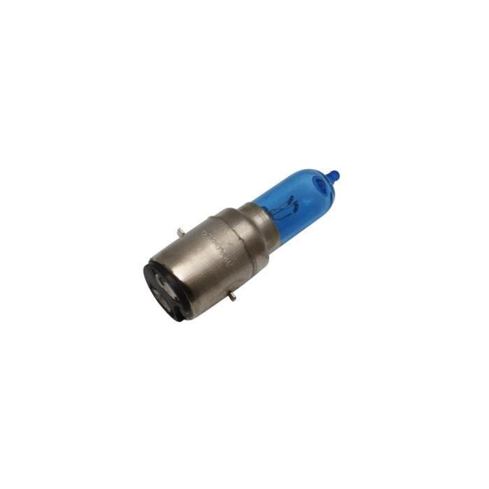 AMPOULE-LAMPE 12V 35-35W NORME S2 CULOT -BA20D LOOK XENON ECLAIRAGE SUPER BLANC (PROJECTEUR) (VENDU A L'UNITE)  -SELECTION P2R