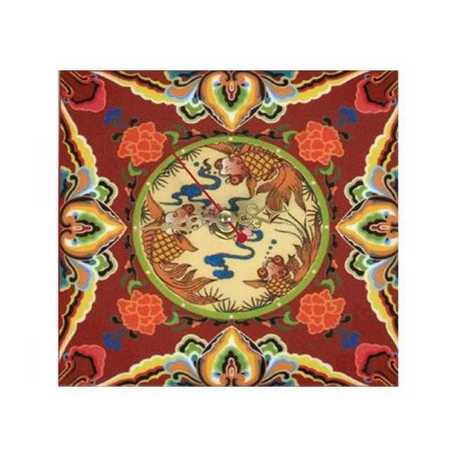 Horloge D\'inspiration Asiatique En Bois - Motif Symbolique De ...
