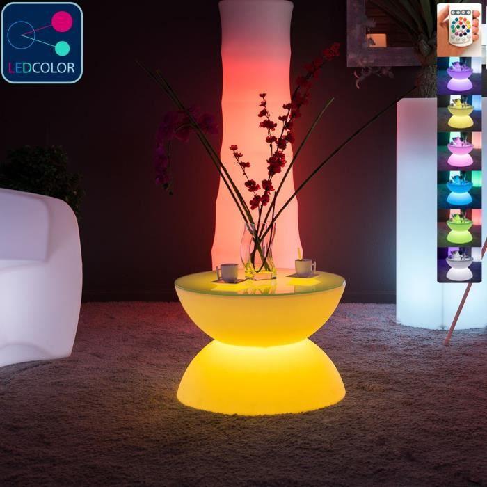Lumineuse Table Led Multicolore Full Moon Basse qSMjLpGUzV