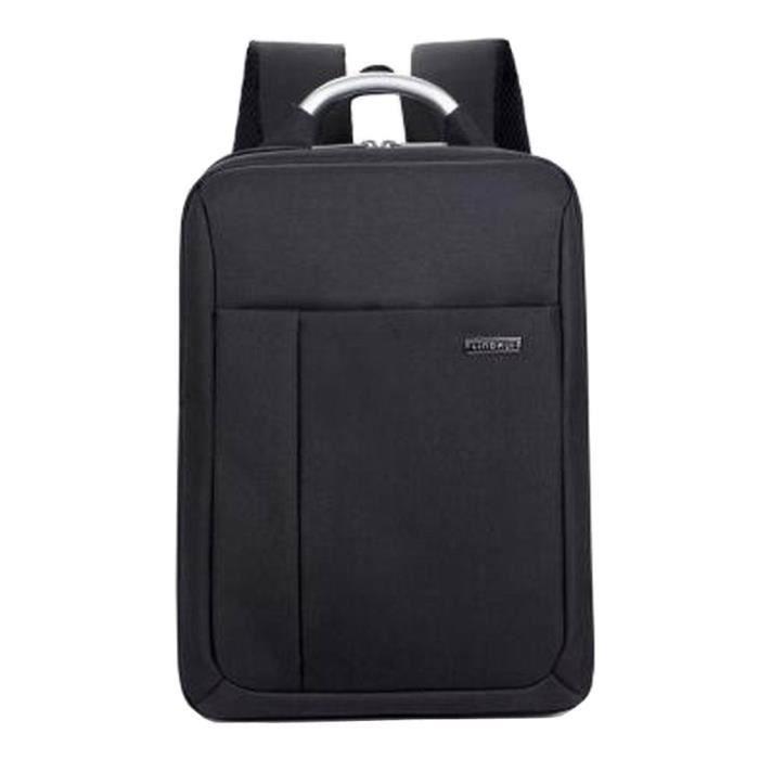 ashion Laptop Backpack Business Backpack Hommes Voyage sac noir