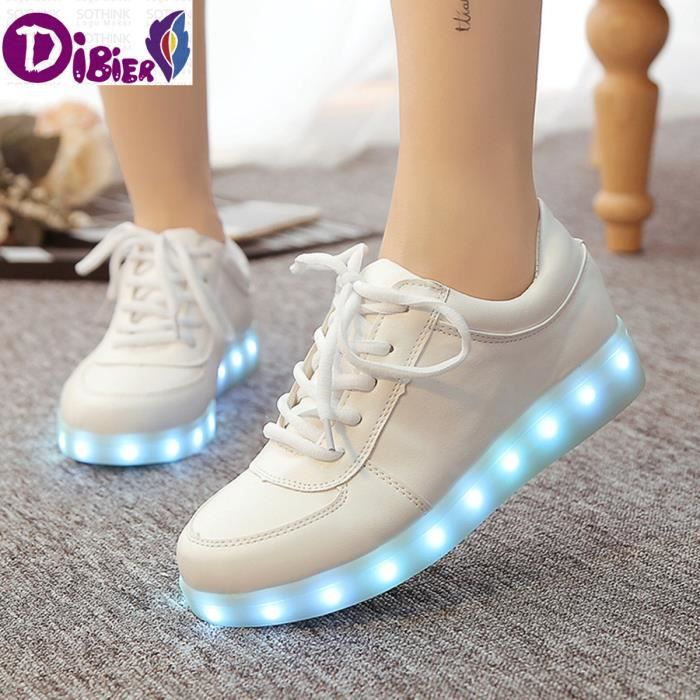 Chaussures Lumineux Led 2016 Souliers Led Chaussures Femmes & Hommes Mode LED Adulte allume USB Chaussures de charge