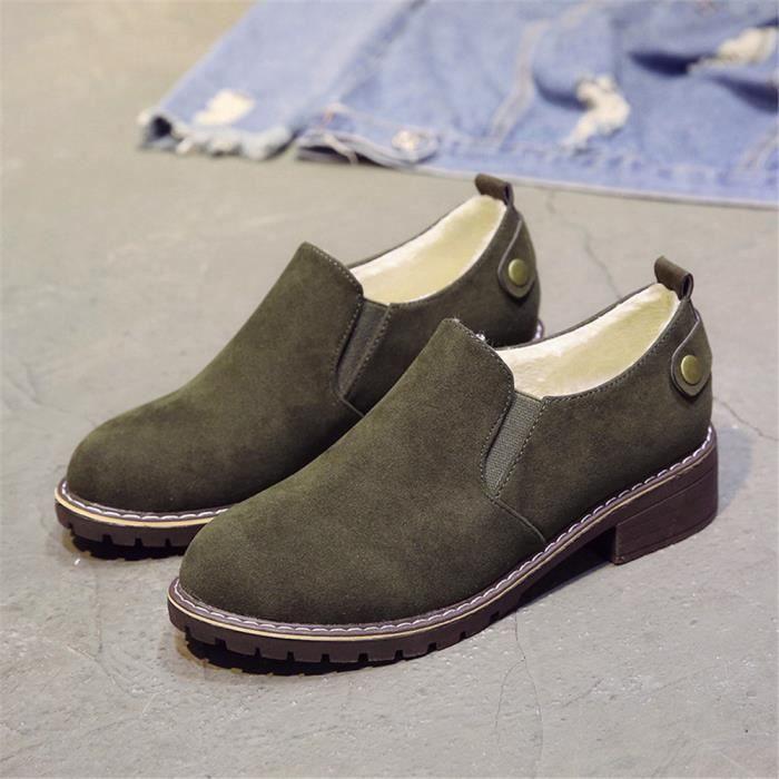 Femmes Bottine Nouvelle Mode Les Chaussures De Loisirs Chaussures de doublure en laine AntidéRapant Femme Bottines Plus WTLKaBEFUR