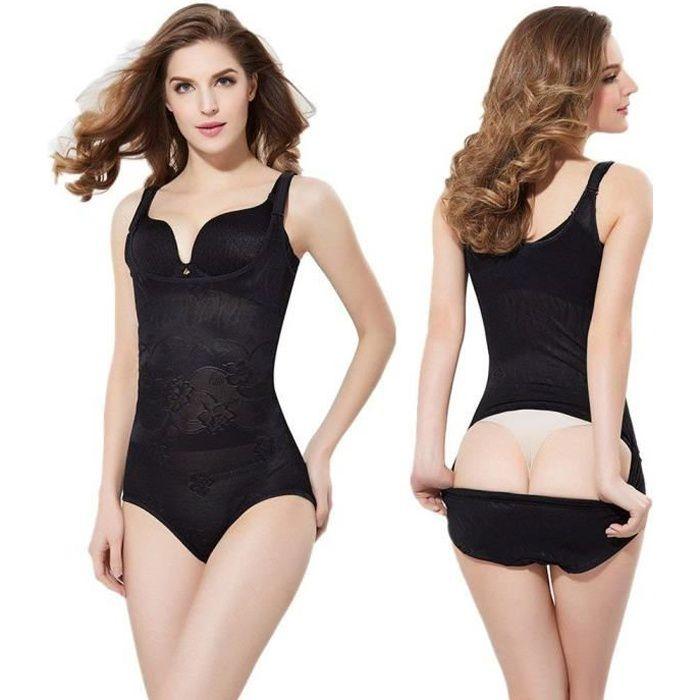 Femme gaine amincissante body gainant ventre plat lingerie gainante ... b30836ba50a