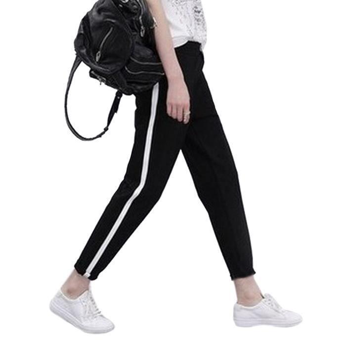 61a6bb84f7 Pantalon femme a bandes laterales - Achat / Vente pas cher