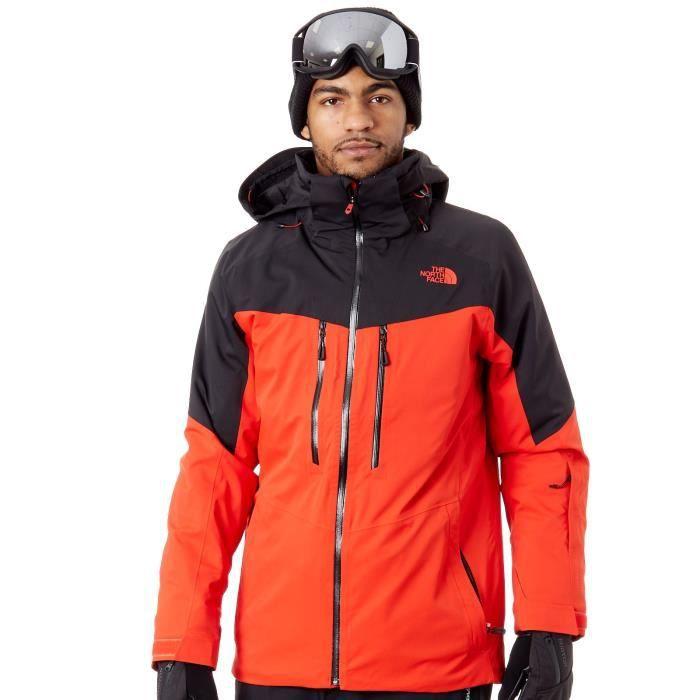 3c70324e15000 Veste de Snowboard The North Face Chakal Fiery Rouge TNF Noir - Prix ...