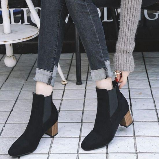 Talons Imprimé Bottes Qinhigs2018115608 Leopard bottines En Haut Peluche à Chaussures Courtes Féminine Mode 80OZPnkNwX