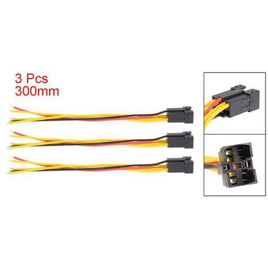 3 pcs J25-C-30 30cm longueur 5-câble adaptateur connecteur câblé pour  interrupteur à bouton-poussoir