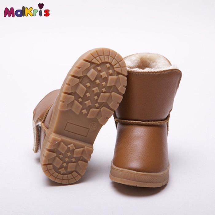 Enfants de neige hiver chaussures filles bottes...
