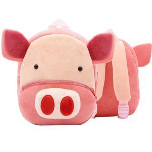 SAC À DOS Enfants Sac à Dos Peluche Forme Cochon Animal Mign