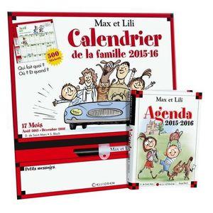 AGENDA - ORGANISEUR Calendrier de la famille Max et Lili - Août 2015-d