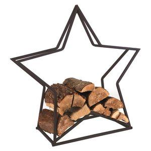 SERVITEUR DE CHEMINÉE Cadre en bois de chauffage en métal étoile foyer a