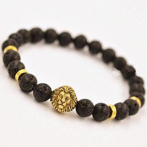 Bracelet tete de lion homme