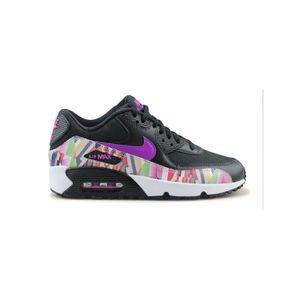 BASKET Nike Air Max 90 Print Mesh Junior Noir