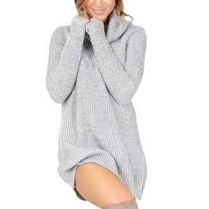 00a16946f21 ROBE Femmes Robe en maille Pull Robe pull à manches lon