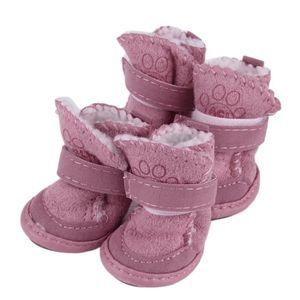 PROTECTION DES PATTES Lot de 4 bottes chien chaussure mignon respirantes