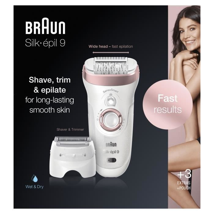Braun Silk épil99 720 Épilateur - technologie Micro-Grip - tête40% plus large