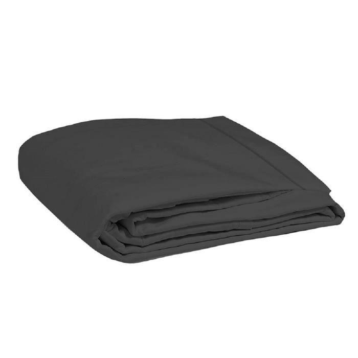 COTE DECO Drap Plat Coton 57 fils Noir 270x300cmDRAP PLAT