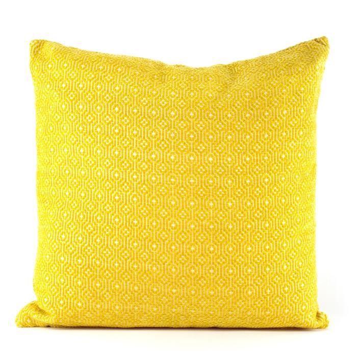 MARLENE BACKER Coussin déhoussable Line 45x45 cm jaune