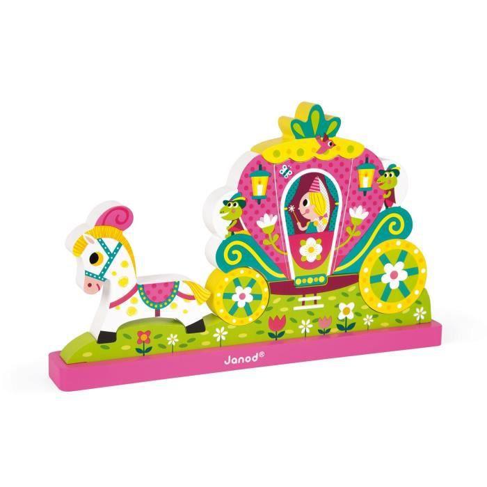 JANOD Puzzle vertical magnétique ''Princesse''