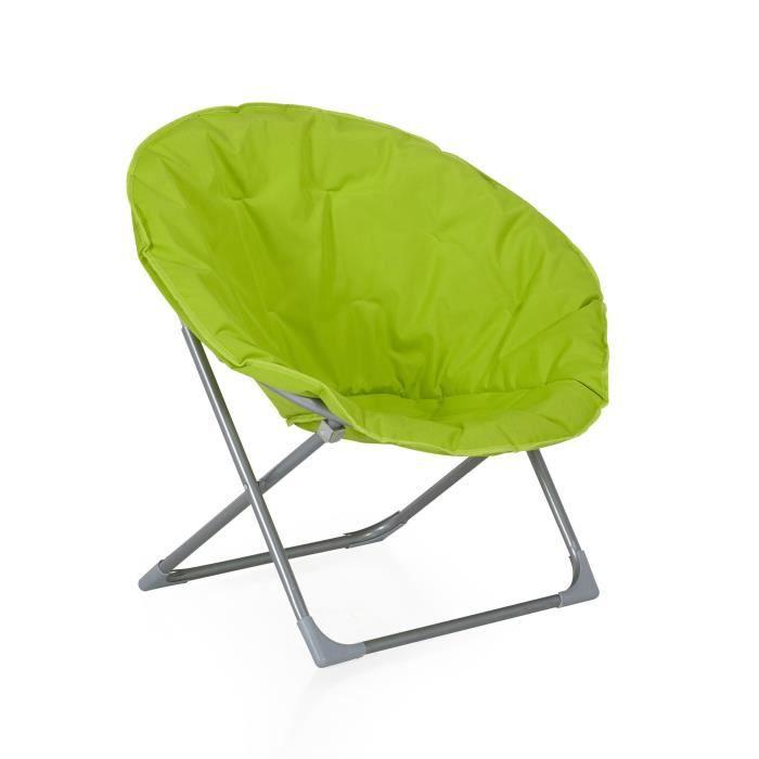 Moon fauteuil de jardin pliant vert anis achat vente fauteuil jardin moon fauteuil de jardin - Canape vert anis ...