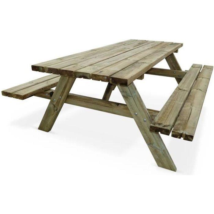 Salon de jardin bois banc - Achat / Vente pas cher