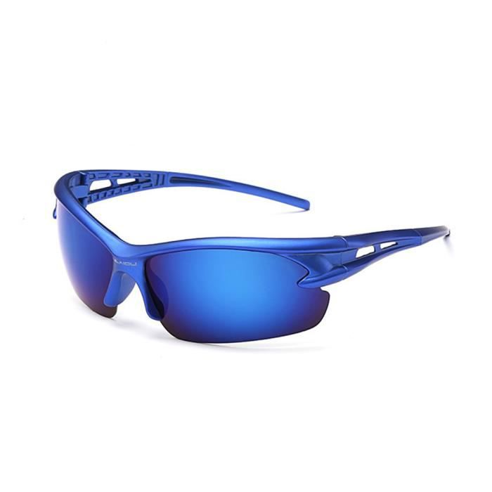 Lunettes de soleil mixte homme et femme Type de sport sunglasses Anti-Collision Bleu/Bleu
