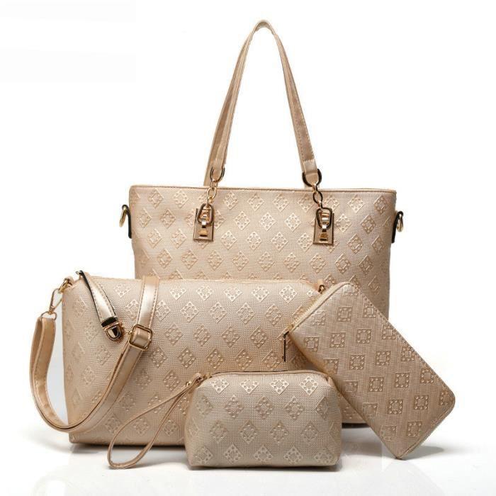 sac à mainTop-poignée femmes célèbres marques Sac Mesdames cuir femmes Sacs solide épaule Totel-2576