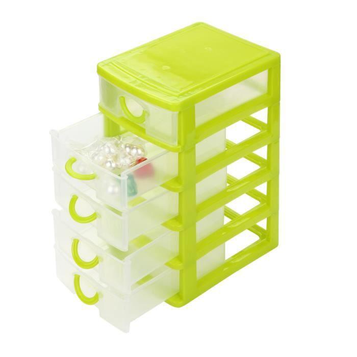 BOITE DE RANGEMENT Durable en plastique mini tiroir de bureau sèches
