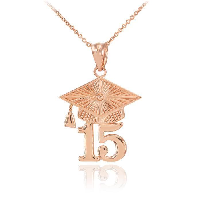 Pendentif 10 ct 471/1000 or rose 2015 Classe-Pendentif Graduation
