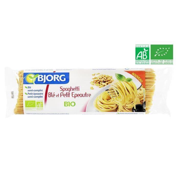 CÉRÉALES - MÉLANGES BJORG Spaghetti Blé Petit Epeautre Bio 500g