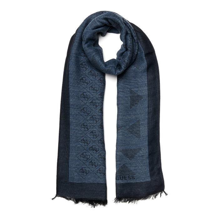 Guess Echarpe Homme AM6516 Bleu - Achat   Vente echarpe - foulard ... 25d507c6e9c