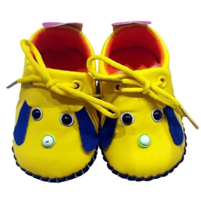 C2BB - C2BB - Chaussures premiers pas cuir souple | Mr shoes jaune