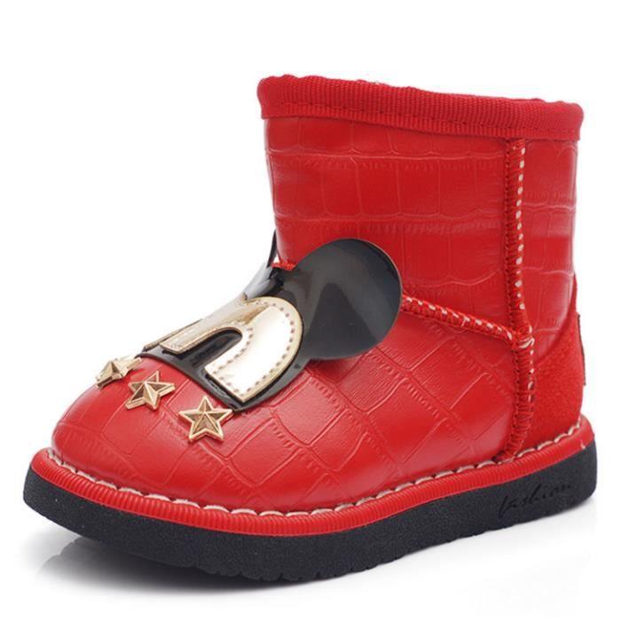 """Lovely """"M"""" enfants mot de chaud bottes rouge"""