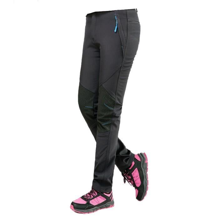 Vent Imperméable Sport Randonnée Doublé Femme Softshell Outdoor Pantalon Polaire Camping Coupe A43L5Rjq